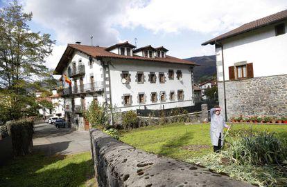 The Civil Guard barracks in Leiza, Navarre region.