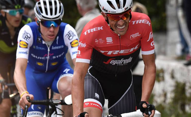 Contador, followed by David de la Cruz in the final stage of the París-Nice stage of this year's Tour de France.