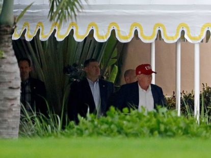 Trump leaves his home in Florida on Sunday.