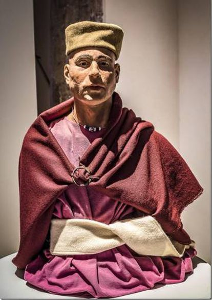 Reconstruction of a man whose body was found in the islet of Sa Galera.