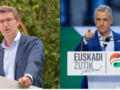 Galician premier Alberto Núñez Feijóo (l) and Basque 'lehendakari' Íñigo Urkullu, during their election campaigns.