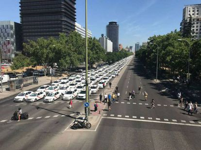 Paseo de la Castellana avenue in Madrid.