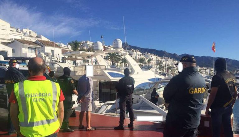 Spanish police arrest an Irish national last September in Marbella.