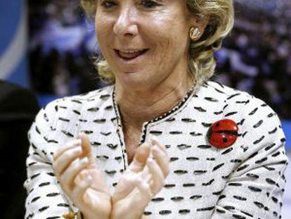Madrid's regional premier, Esperanza Aguirre.