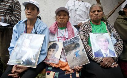 Three mothers in search of their children in Mexico.