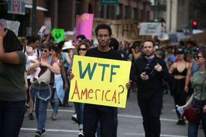 An L.A. protest against President-Elect Trump on November 12.