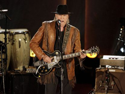 Neil Young performs in Washington in November.