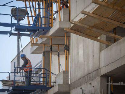 Construction workers, last week in Gibraltar.