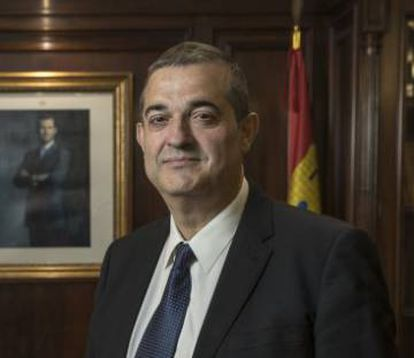Alberto Santamaría, the president of Soria's Chamber of Commerce.