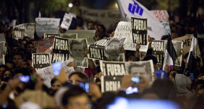 Tens of thousands took to the Mexico City streets to protest.