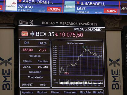 The Spanish blue-chip Ibex 35 index fell 2.85% on Wednesday.