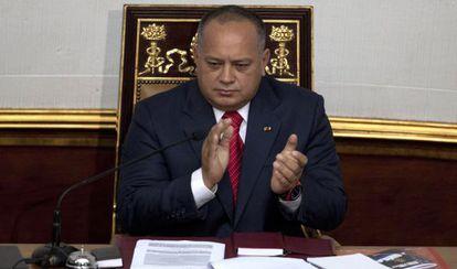 National Assembly speaker Diosdado Cabello.