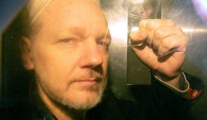 Julian Assange in London on May 1, 2019.