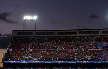 The Vicente Calderón stadium in Madrid