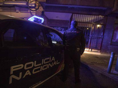 National Police officer E, at 50 Francisco Navacerrada street, where Alberto Sánchez was arrested.