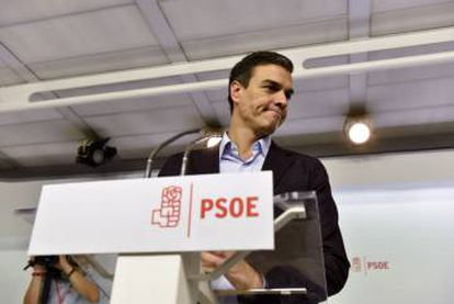 Pedro Sánchez resigned on Saturday as secretary general of the PSOE.