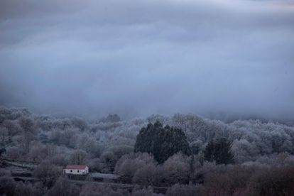 Calvos de Randín, in Ourense province, was already experiencing wintry conditions on Wednesday.