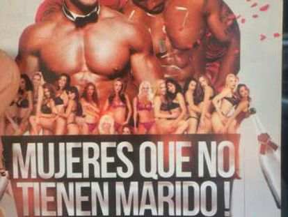 """The offending poster invites """"unmarried women"""" to male stripper event."""