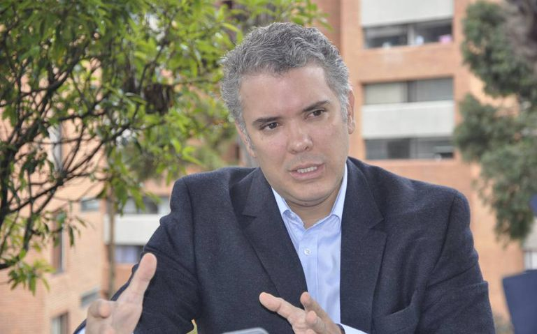 Iván Duque, the presidential candidate for Colombia's Democratic Center.