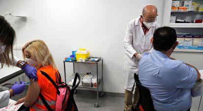 Vaccination drive in Valencia.