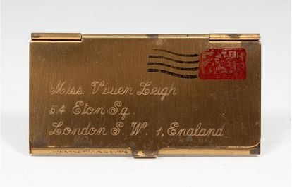 Leigh's stamp holder, another of the lots to be auctioned on May 26.