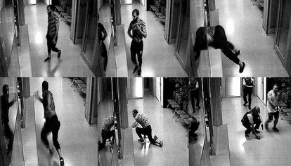 Newly released security camera footage of the attack.
