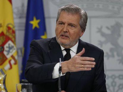 Government spokesperson Íñigo Mendez de Vigo in a file photo.