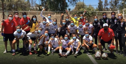 Colo Colo's squad, pictured last December.