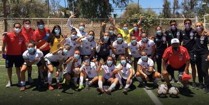 Colo Colo's squad, pictured last December.
