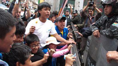 A child labor protest in Bolivia.