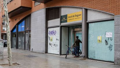 A commercial space for rent in Barcelona's Sant Martí district.