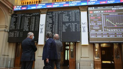 The Madrid stock market in May.