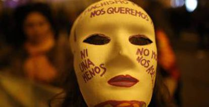 A march against gender violence in Spain.