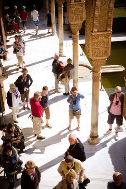The Alhambra is one of the most visited monuments in Spain by European visitors.