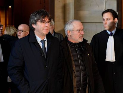 Carles Puigdemont in Brussels on Tuesday.