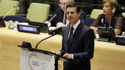 Mexican President Enrique Peña Nieto at the United Nations.
