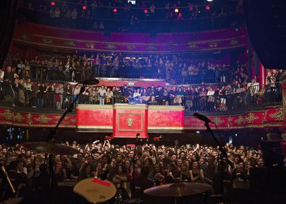 The crowd at the London gig in February.