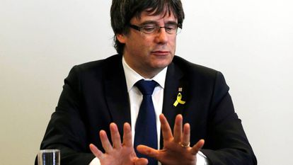 Ousted Catalan premier Carles Puigdemont in Berlin.