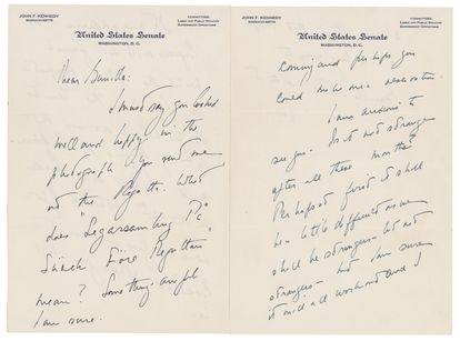 Some of the letters written by John F. Kennedy to Gunilla von Post when he was still a US senator, in 1955 and 1956.