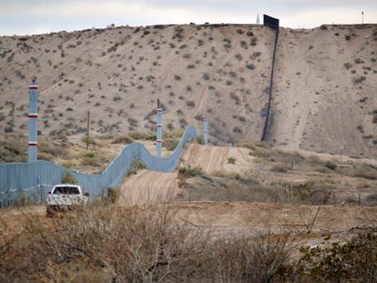 The fence along the US-Mexico border.