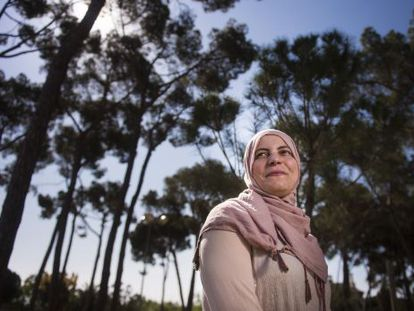 Fatima Taleb, the first Muslim councilor in the Catalan city of Badalona.