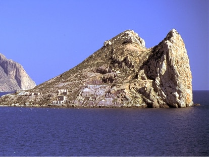 Fraile Island off the coast of Águilas, in Spain's Murcia region.