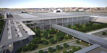A rendition of the new unified terminal.