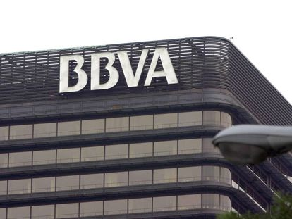 BBVA's Madrid headquarters.