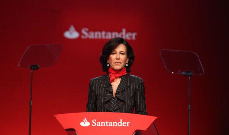 Ana Botín during an extraordinary meeting of shareholders on Monday.