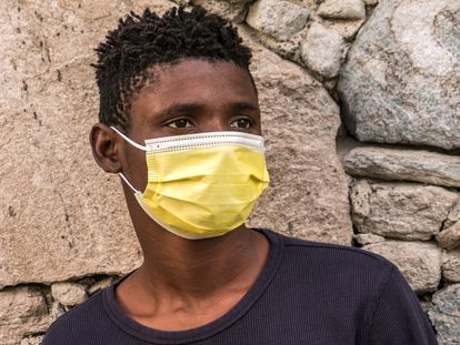 Prince, the fictitious name for a 14-year-old from Nigeria, now lives in a refuge for minors in the Canary Islands.