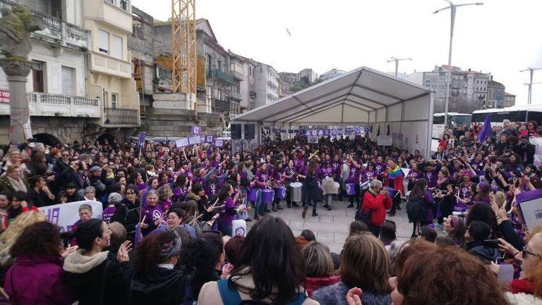 A feminist protest in Vigo on Sunday.