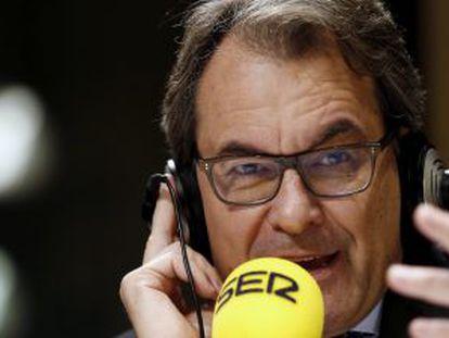 Acting regional premier Artur Mas during the Cadena SER interview.