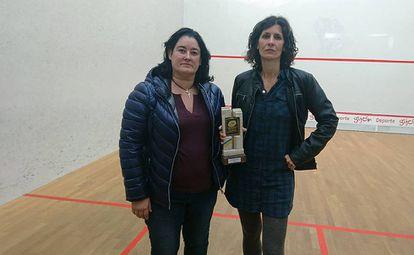 Squash players Maribel Toyos and Elisabet Sadó.
