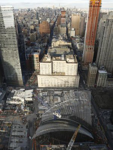 A view of Calatrava's project at Ground Zero in New York.